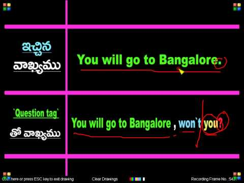 Spoken English Through Telugu 51 B video
