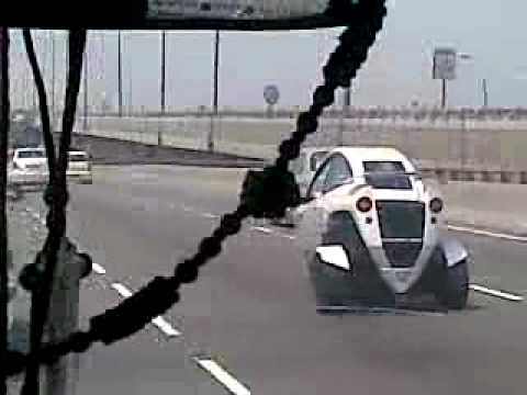Chinese 2 Wheeler Car @ Gurgaon Express Way @ 07-JULY  by Vipin Jain