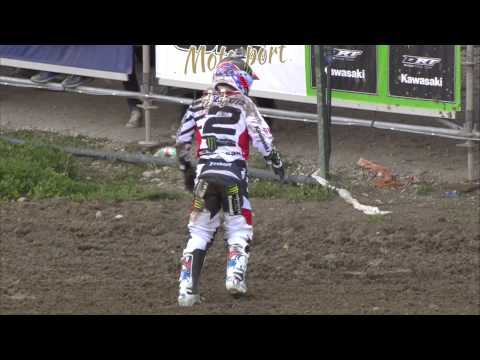 Ryan Villopoto vs Clement Desalle with GoPro of RV2 crash MXGP of Trentino 2015 - motocross