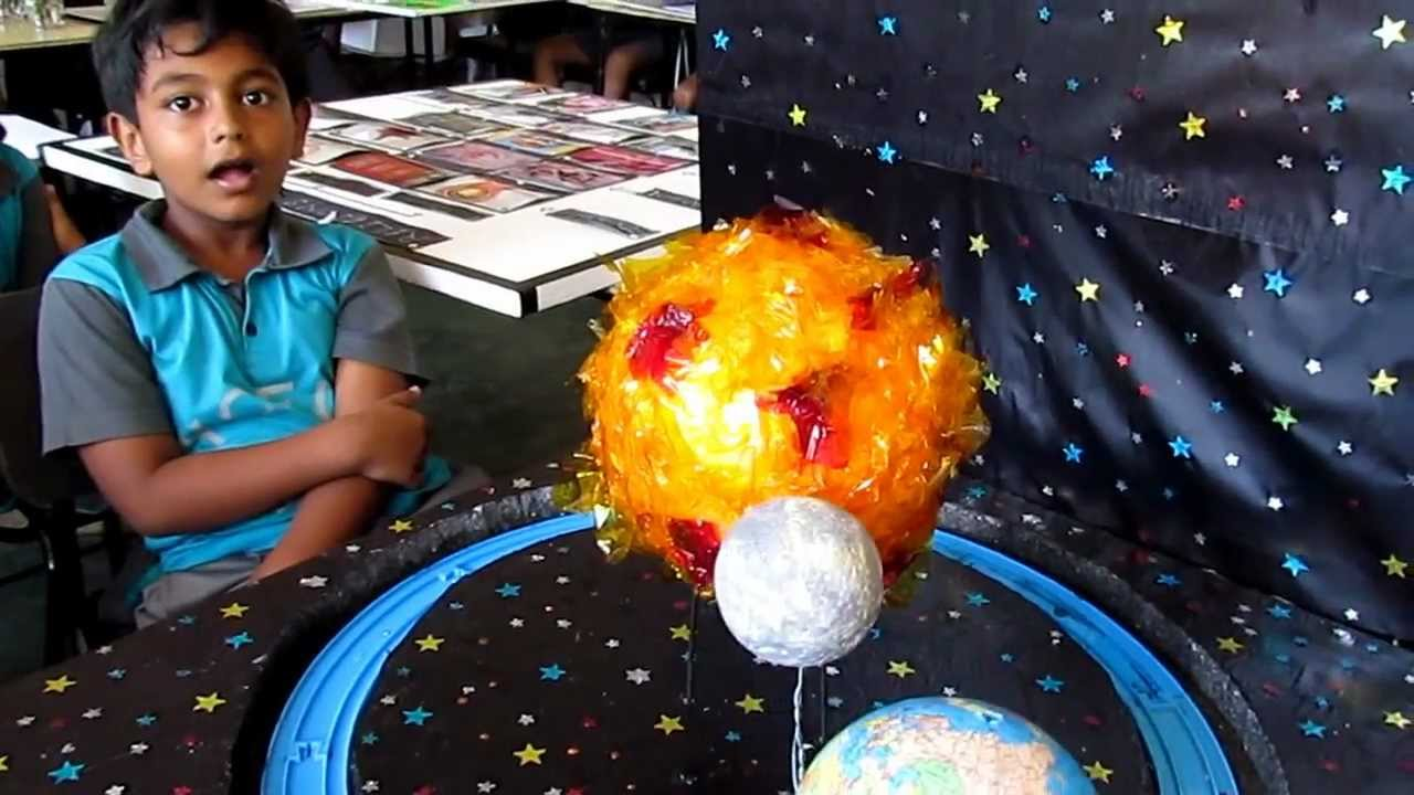 Sun Earth Moon Model For Kids Project Earth Moon Sun