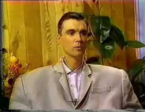 David Byrne Interview Video