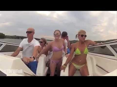 Bikini Girls Boat Crash  Turn Down For What  Remix Hd  Tdfwfail
