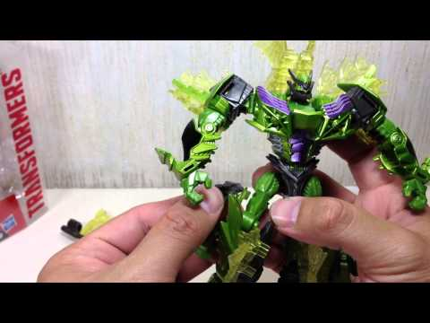 Deluxe Snarl Takara Tomy Transformers 4 Movie Advanced AD 28 Toy Review