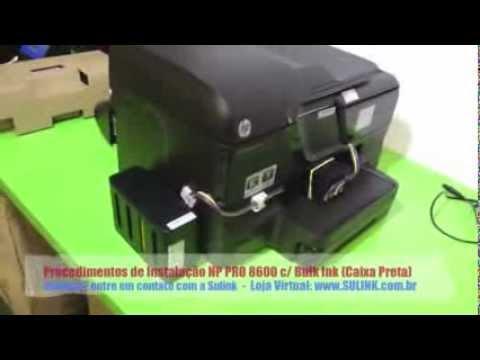 Procedimentos de Instalação HP PRO 8600 c/ Bulk Ink (Caixa Preta)