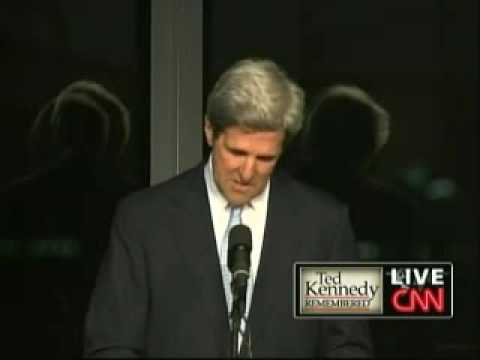 Edward Kennedy Memorial Service - Sen. John Kerry (Part 2)