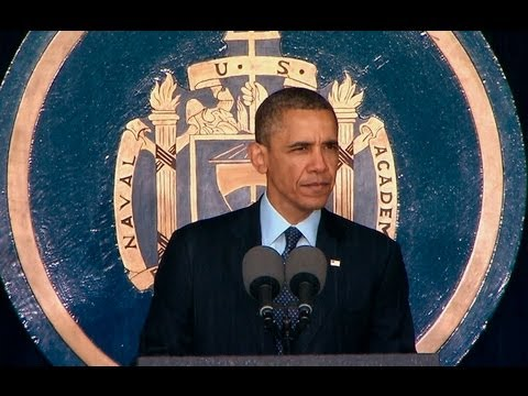 President Obama Speaks at the U.S. Naval Academy Commencement Ceremony