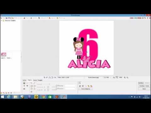 PAP #1   Como fazer tag personalizada com nome e idade da criança no Photoscape