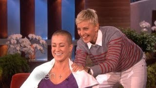 Ellen Shaves Kellie's Head