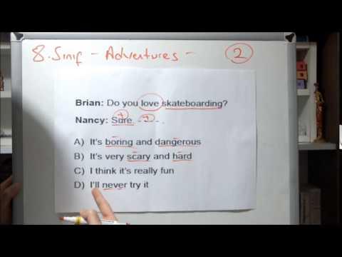 Teog 8. Sınıf İngilizce 6. Ünite | Adventures Test Teknikleri