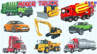Learning street vehicles for children tractor mixer truck cars trucks