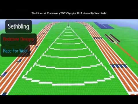 The First Ever Minecraft Community TNT Olympics 2012