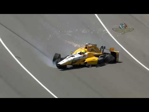 Spencer Pigot Incident At Indianapolis Motor Speedway - May 18, 2016