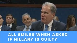 """IG Horowitz can't help but LAUGH when asked if Hillary Clinton committed """"no crimes"""""""