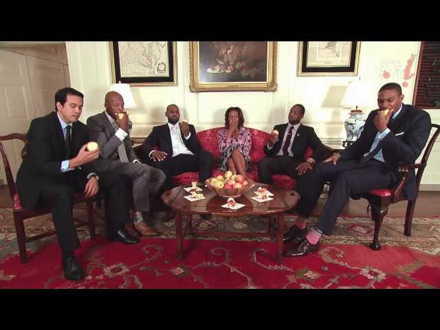 The Miami Heat at the White House: Healthy Tips From NBA Champions