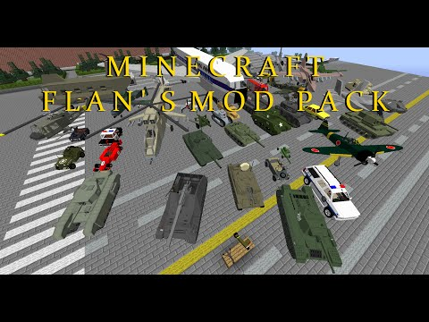 Minecraft Flans Mod 1.7.10 Pack (best Flans models with too many items & crafting guide)