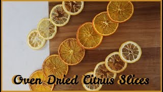 OVEN DRIED CITRUS SLICES || Perfect to decorate Desserts or as House Decor!