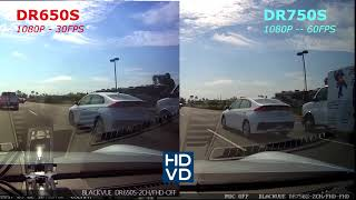 [FULL HD 1080P] Side by side comparison of the BlackVue DR650S and the DR750S