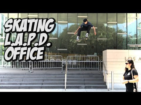 SKATING THE POLICE STATION AND MUCH MORE !!! - NKA VIDS -