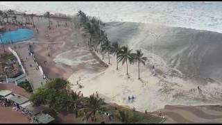 Mive Wave Flooding Durban Beach front!