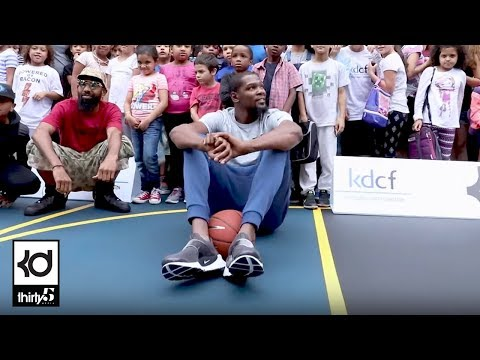 Nyc Trip Kevin Durant Charity Foundation Court Opening