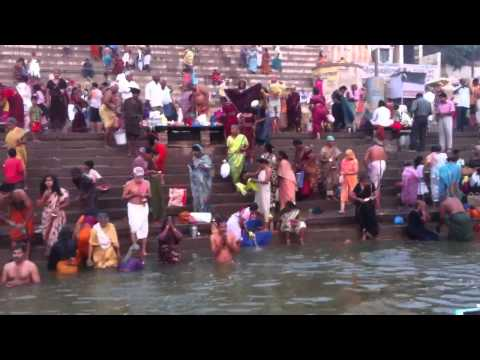 Hindus Bathing Ritual video