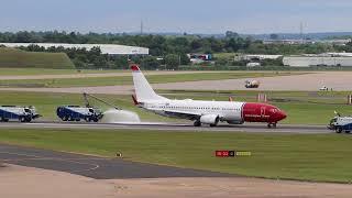 Norwegian  emergency landing Birmingham Airport _