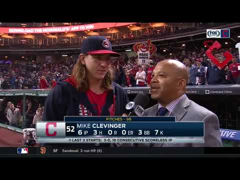 Mike Clevinger on Cleveland Indians streak being like backyard baseball: 'We're having a lot of fun'