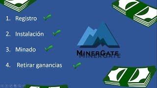 como minar con minergate desde cero en 4 pasos