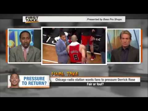 Chicago Bulls Derrick Rose - Stephen A Smith and Skip Bayless Discuss If He Should Return.