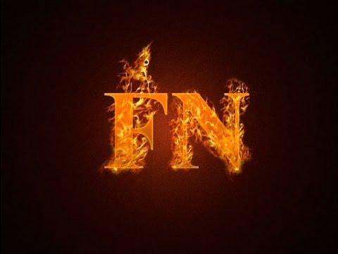 Как сделать горящие буквы в фотошопе