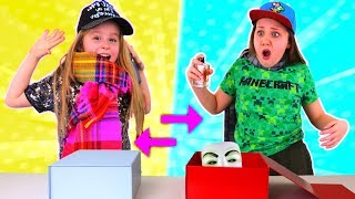 MYSTERY BOX OUTFIT SWITCH UP CHALLENGE!! (Girl vs Boy Dress Up)