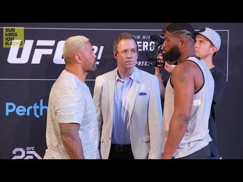 UFC 221: Mark Hunt vs. Curtis Blaydes Staredown