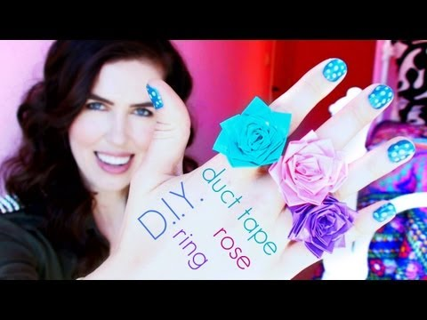 ♥ D.I.Y. ♥ Duct Tape Rose Ring!