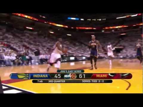 Dwyane Wade 28 points vs Indiana Pacers full highlights semi-finals GM5 NBA Playoffs 2012.05.22