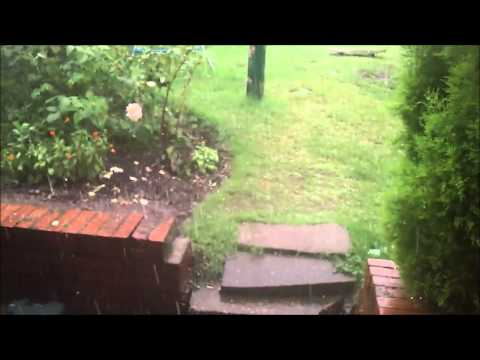 Flash Rain Storm Southwell UK 2013