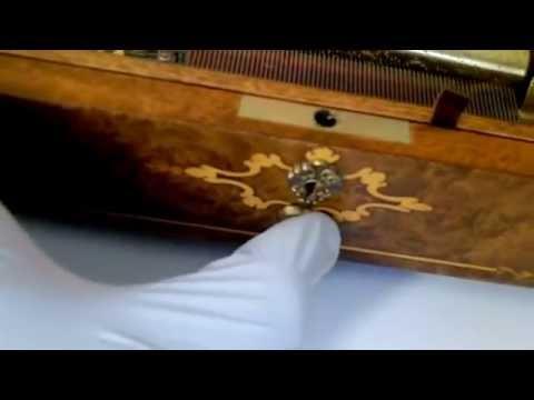 Vintage Reuge Music Box 72 Keys Play 3 Part Song Of Four Season