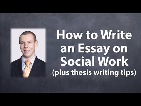 Write my social work essays