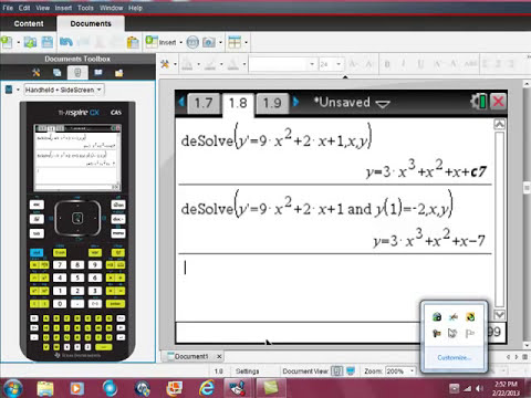 Ti Nspire CAS Solving Differential Equations DESOLVE