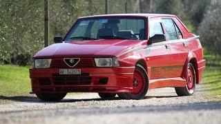 Alfa 75 Turbo Evoluzione - Davide Cironi drive experience (ENG.SUBS)