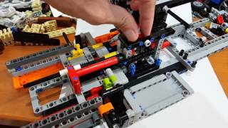 Porsche Lego 42056 - Reverse gear blocking for inverted R-N-D gear sequence - Max solution