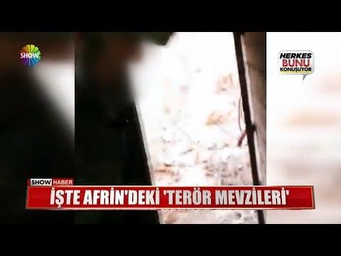 """İşte Afrin'deki """"Terör Mevzileri"""""""
