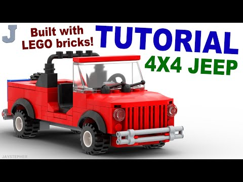 Tutorial - Lego 4x4 Red Jeep