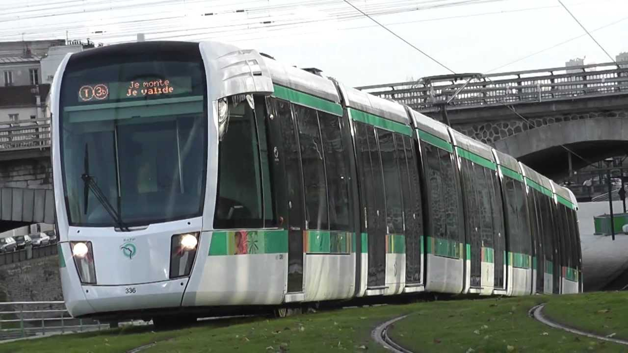 paris nouveau tramway t3b marche blanc porte de la villette 2 youtube. Black Bedroom Furniture Sets. Home Design Ideas