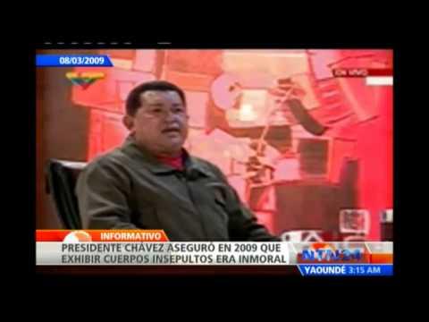 Chávez dice que embalsamar cuerpos es inmoral