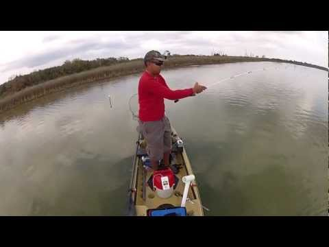 Kayak Fishing Galveston, Texas Redfish