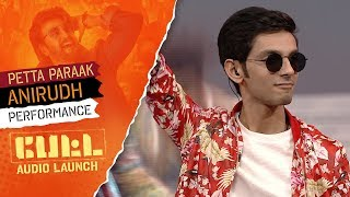 Anirudh Ravichander 39 S Performance Petta Paraak Petta Audio Launch