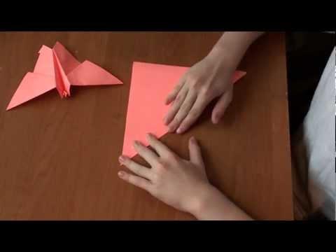 http://nashydetky.com видеоурок оригами Бабочка