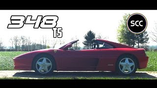 FERRARI 348 TS | Test drive in top gear | Cabriolet | V8 engine sounds | SCC TV
