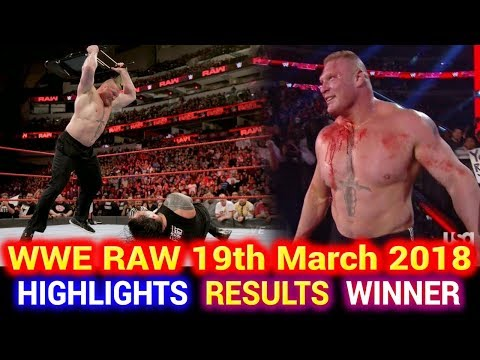 WWE Monday Night Raw 19th March 2018 Hindi Highlights - Roman Reigns | Brock Lesnar | Results Winner thumbnail