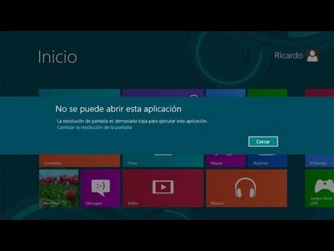Cambiar resolución de pantalla Windows 8   Solución Notebook